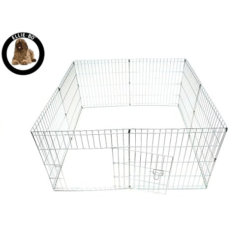 AllRight Fabric Pet Play Pen Dog Playpen Cat Cage Red L