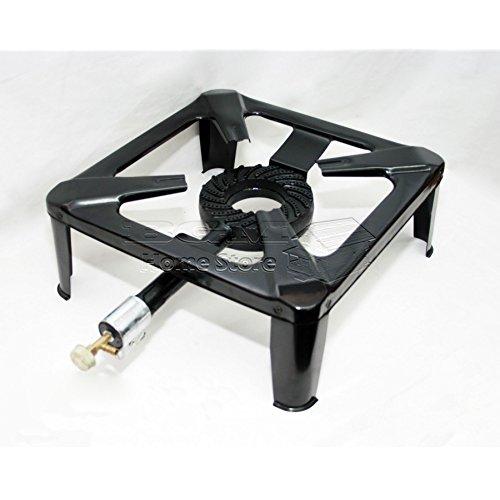 Black 30 x 50 x 30 cm 500 Mm Vaello La Valenciana Paellero Gas Burner 2 Fire Ring
